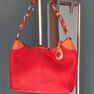 Dooney and Bourke red leather purse